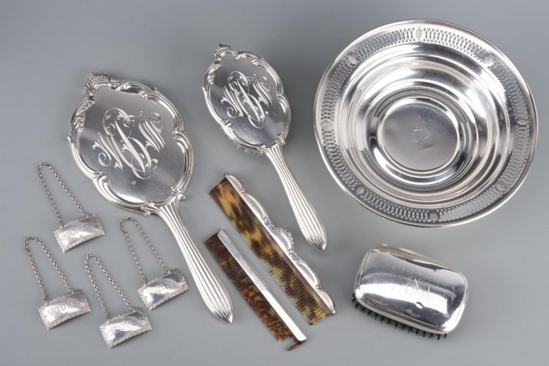 Lot 27: Assd. Sterling Hollowware inc. Vanity