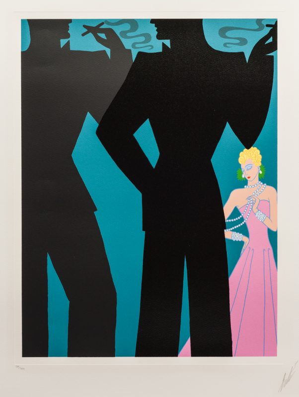 "Lot 2: Erte Serigraph, ""The Cocktail Party"""