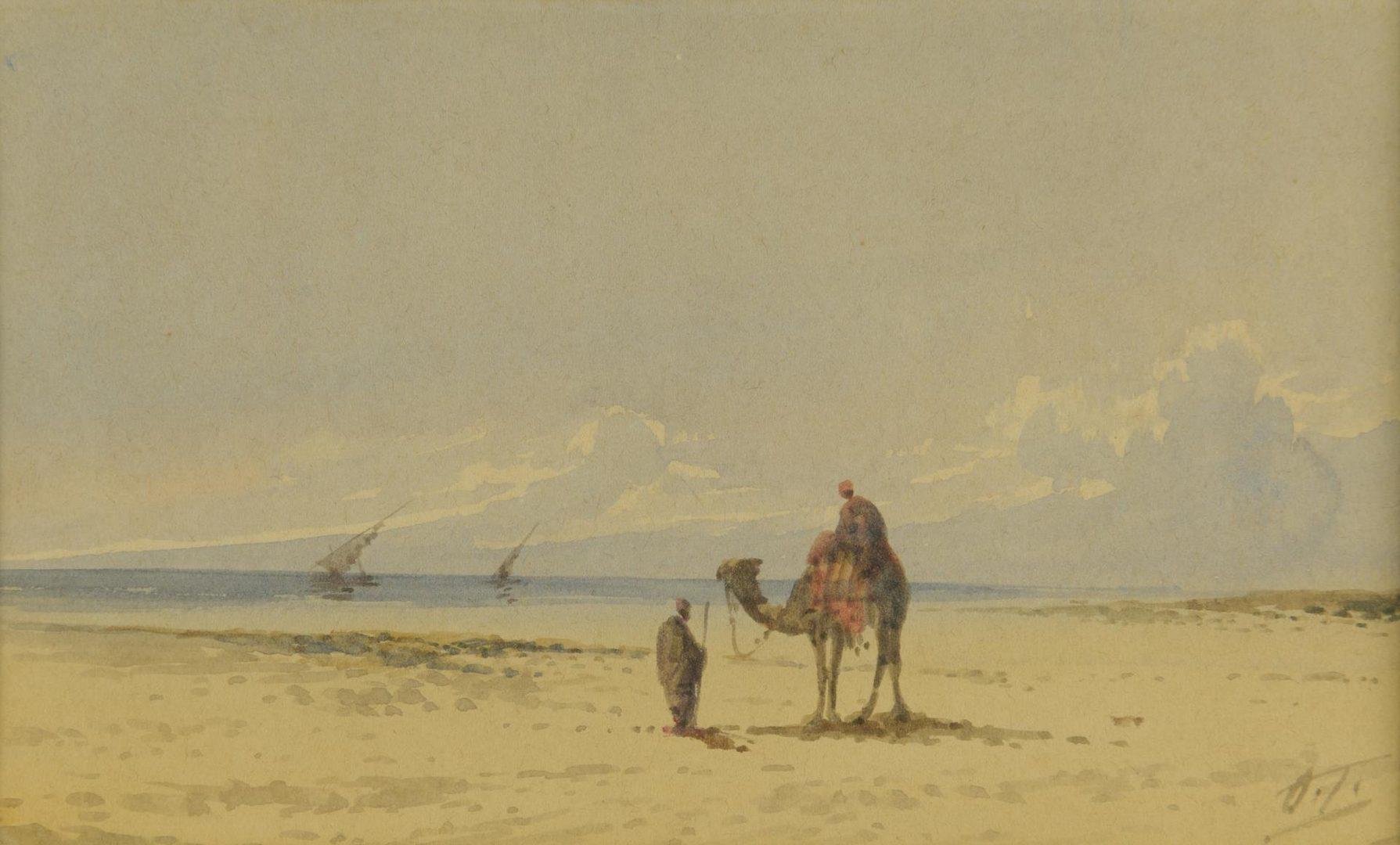 Lot 36: Otto Tilche Orientalist Watercolor