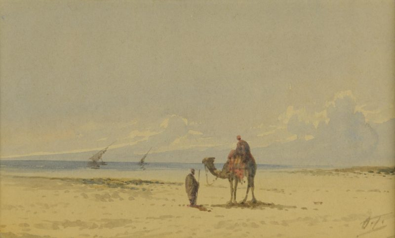 Lot 36: Otto Tilche Orientalist Watercolor