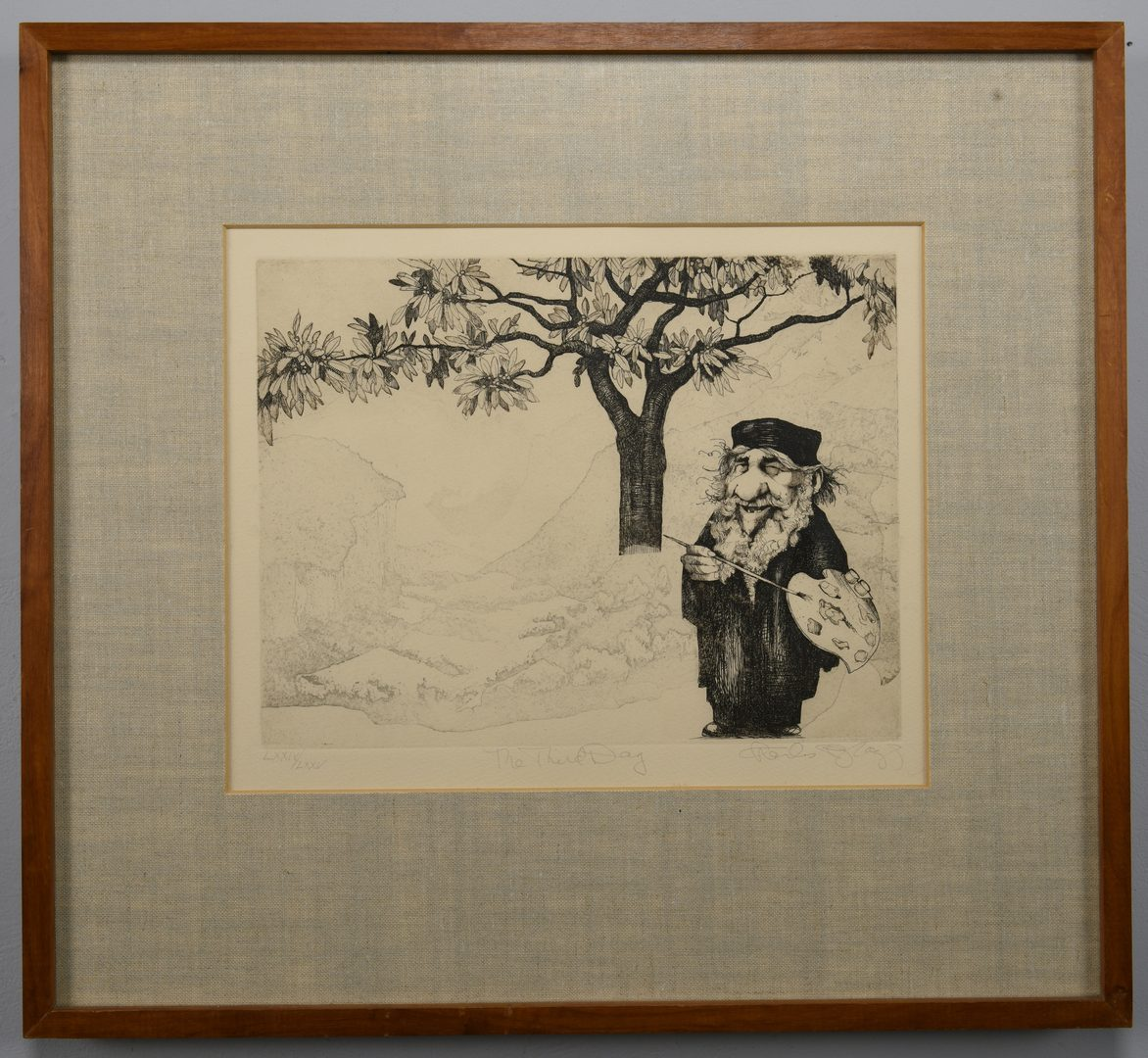 Lot 3: Charles Bragg 7 Creation Day Etchings