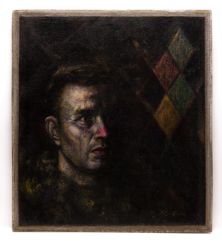 Lot 41: Gaspere Ruffolo, O/B, Portrait of Man