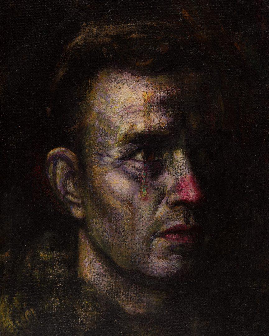 Lot 41: Gaspere Ruffolo, O/B, Portrait of Man