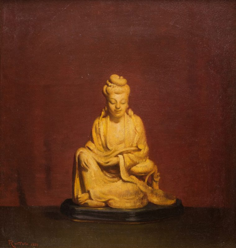 Lot 42: Gaspere Ruffolo O/B Asian Quan Yin Still Life