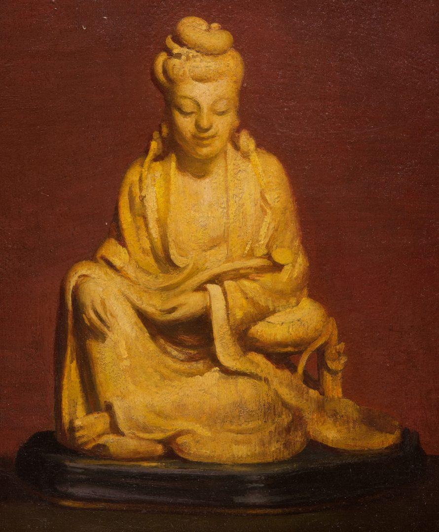 Lot 42: Gaspere Ruffolo O/B Asian Quan Yin Still Life