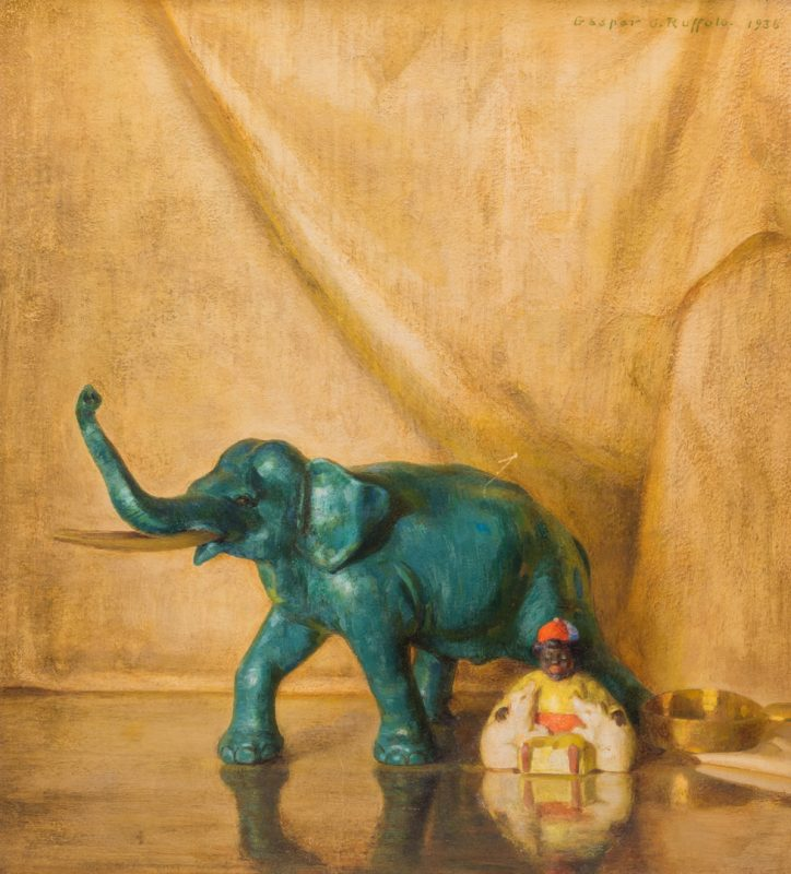Lot 43: Gaspere Ruffolo Oil on Board Asian Still Life