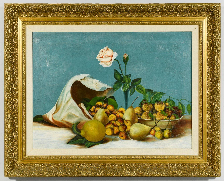 Lot 44: Still life Oil on Canvas, signed