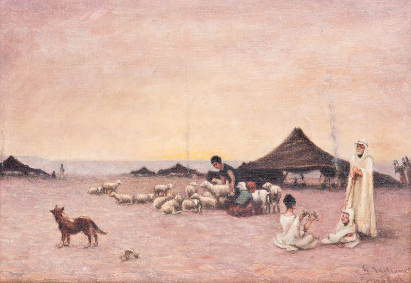 Lot 46: Orientalist Landscape Painting after Guillaumet