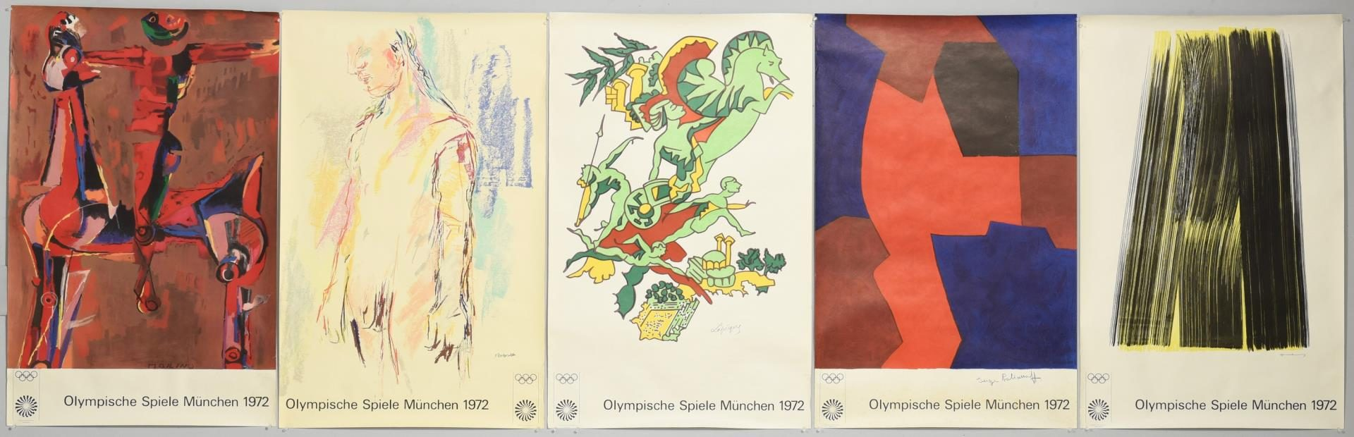 Lot 51: Five 1972 Munich Olympic Posters