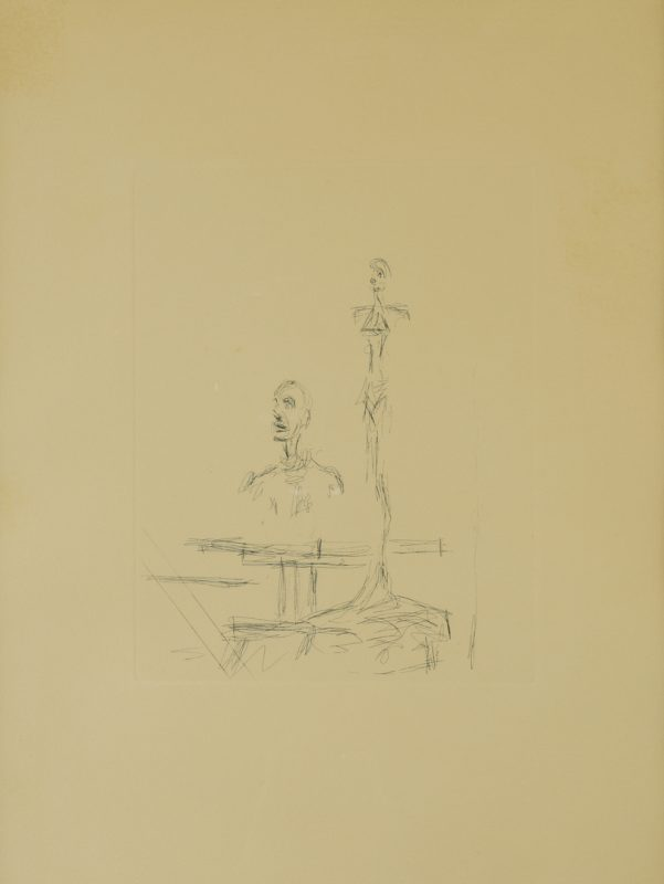 Lot 52: Etching After Alberto Giacometti, The Search