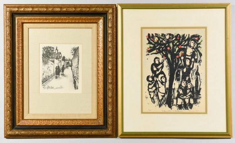Lot 53: Pr. 20th Century Prints, Kleinholz & Utrillo