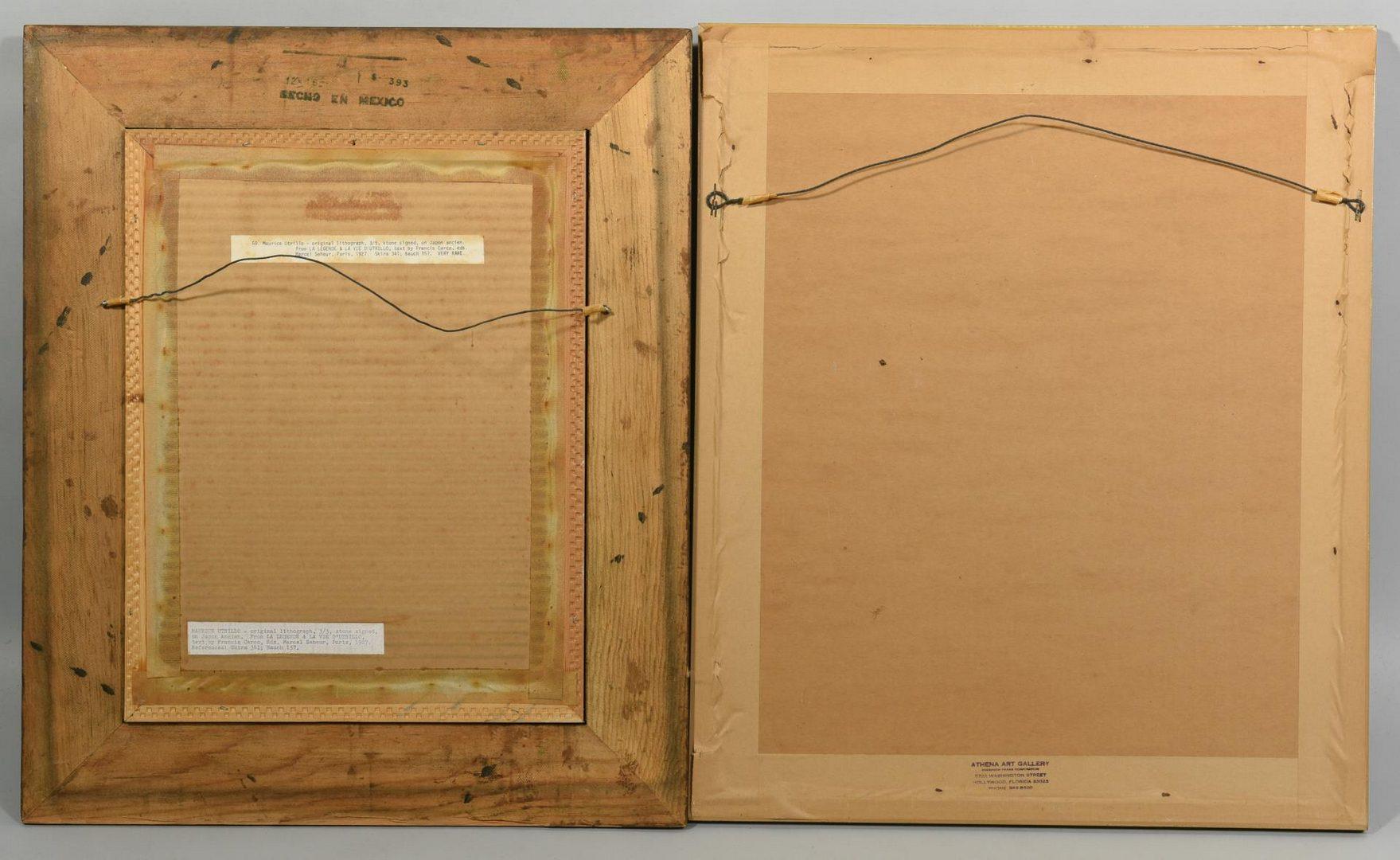 Lot 53: Pr. 20th Century Prints, Kleinholz & Utrillo