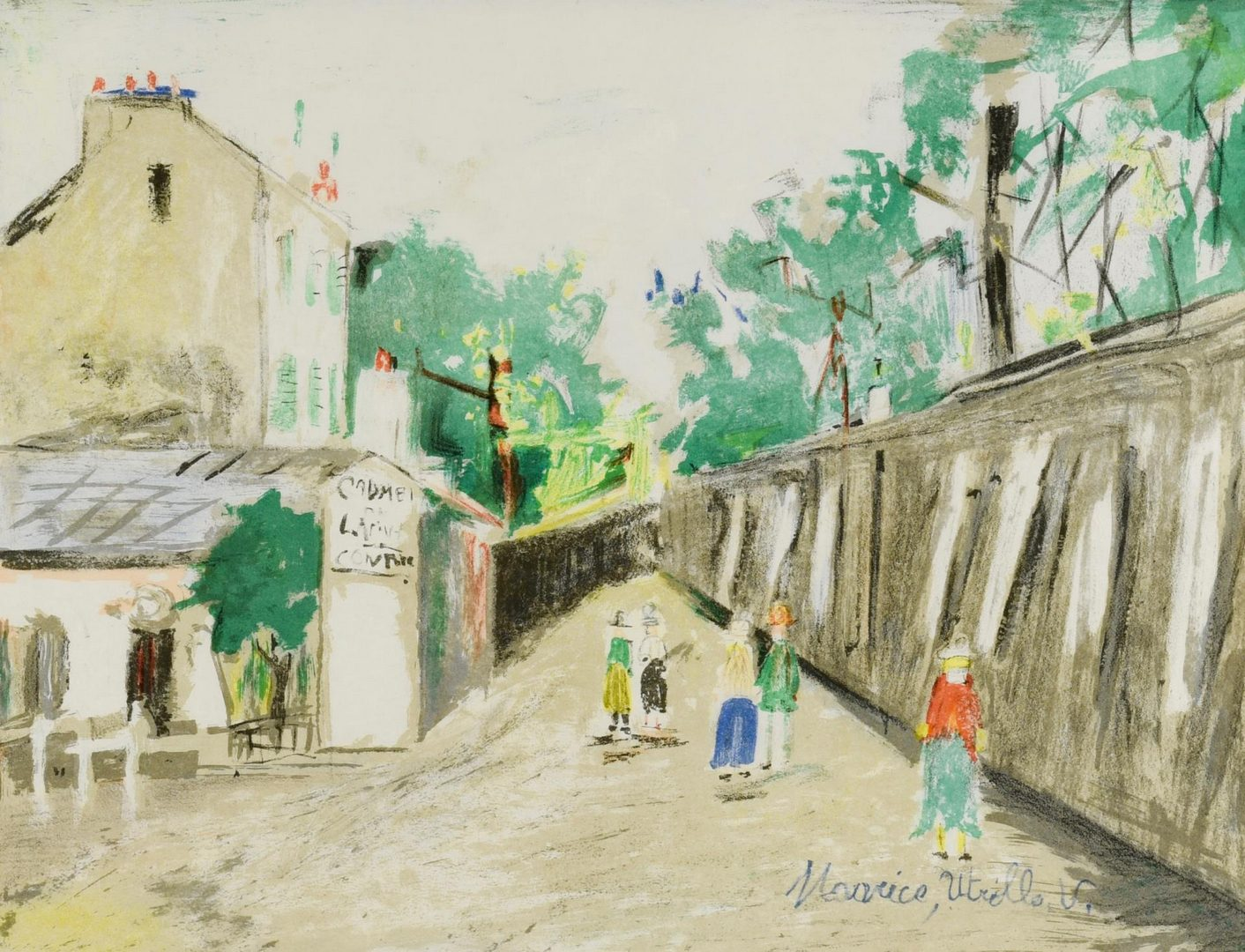 Lot 54: 2 Maurice Utrillo Lithographs. Street Scenes