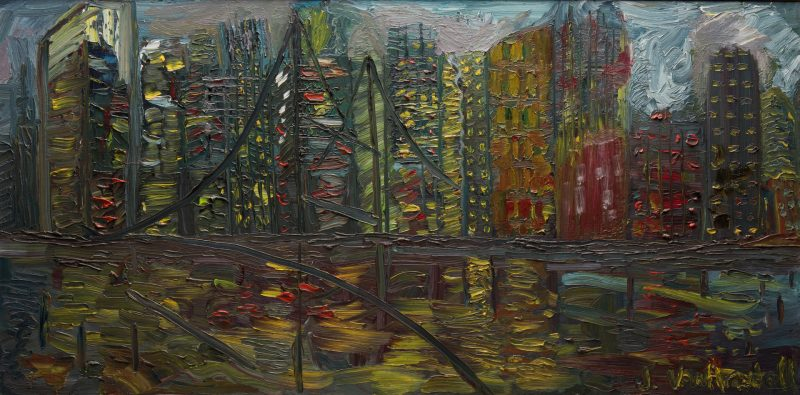 "Lot 59: June Yan (Van) Arsdell, O/C, ""Night Reflections"""