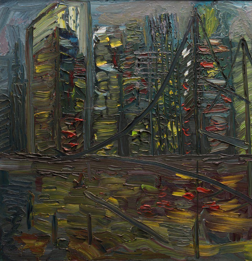 "Lot 59: June Yan (Van) Arsdell, O/C, ""Night Reflections"""