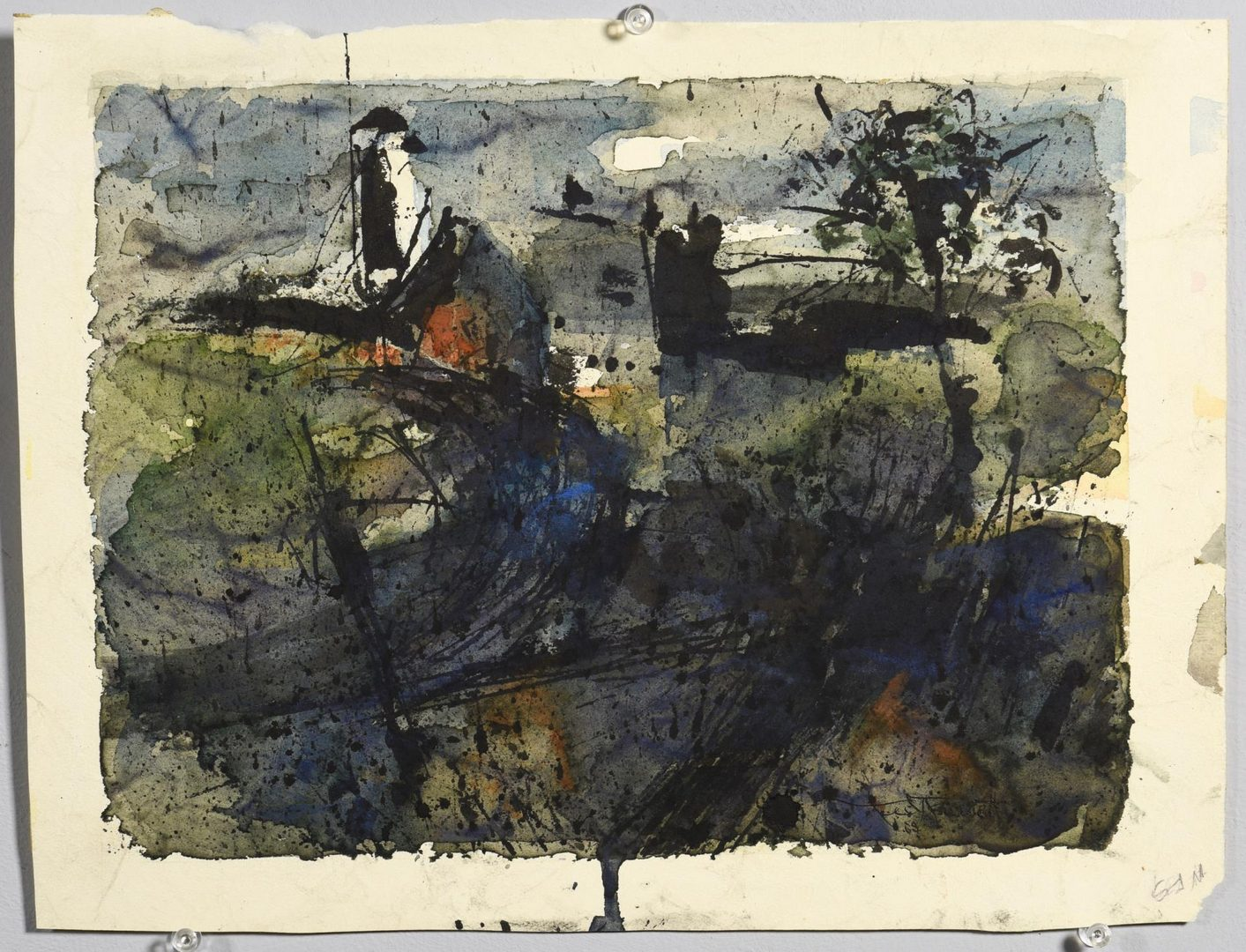 Lot 62: 2 TN Ted Burnett Abstract Watercolors