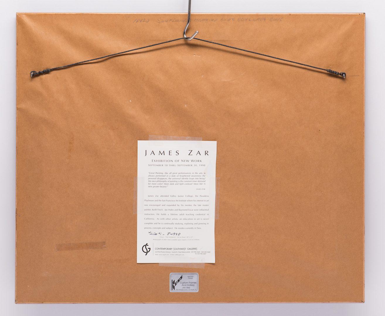 Lot 6: James Zar, Still Life with Hummingbird