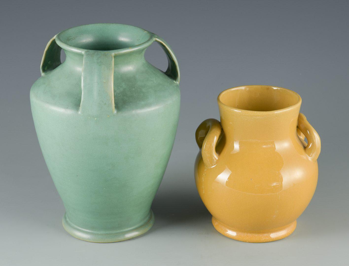 Lot 71: 2 Bybee/Waco Art Pottery Vases