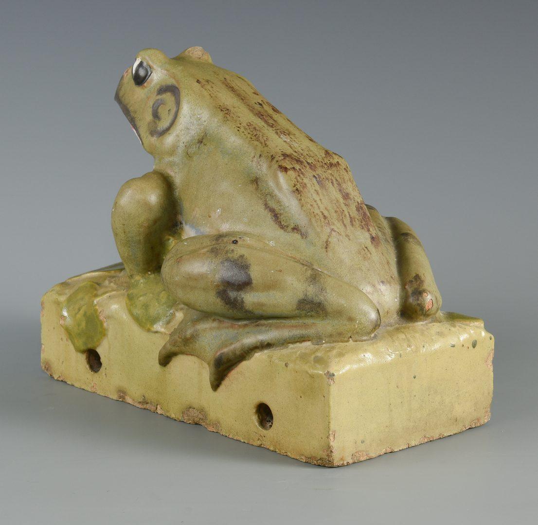 Lot 72: Large Glazed Weller Type Art Pottery Frog