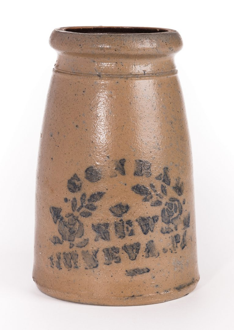 Lot 73: PA Cobalt Decorated Stoneware Canning Jar