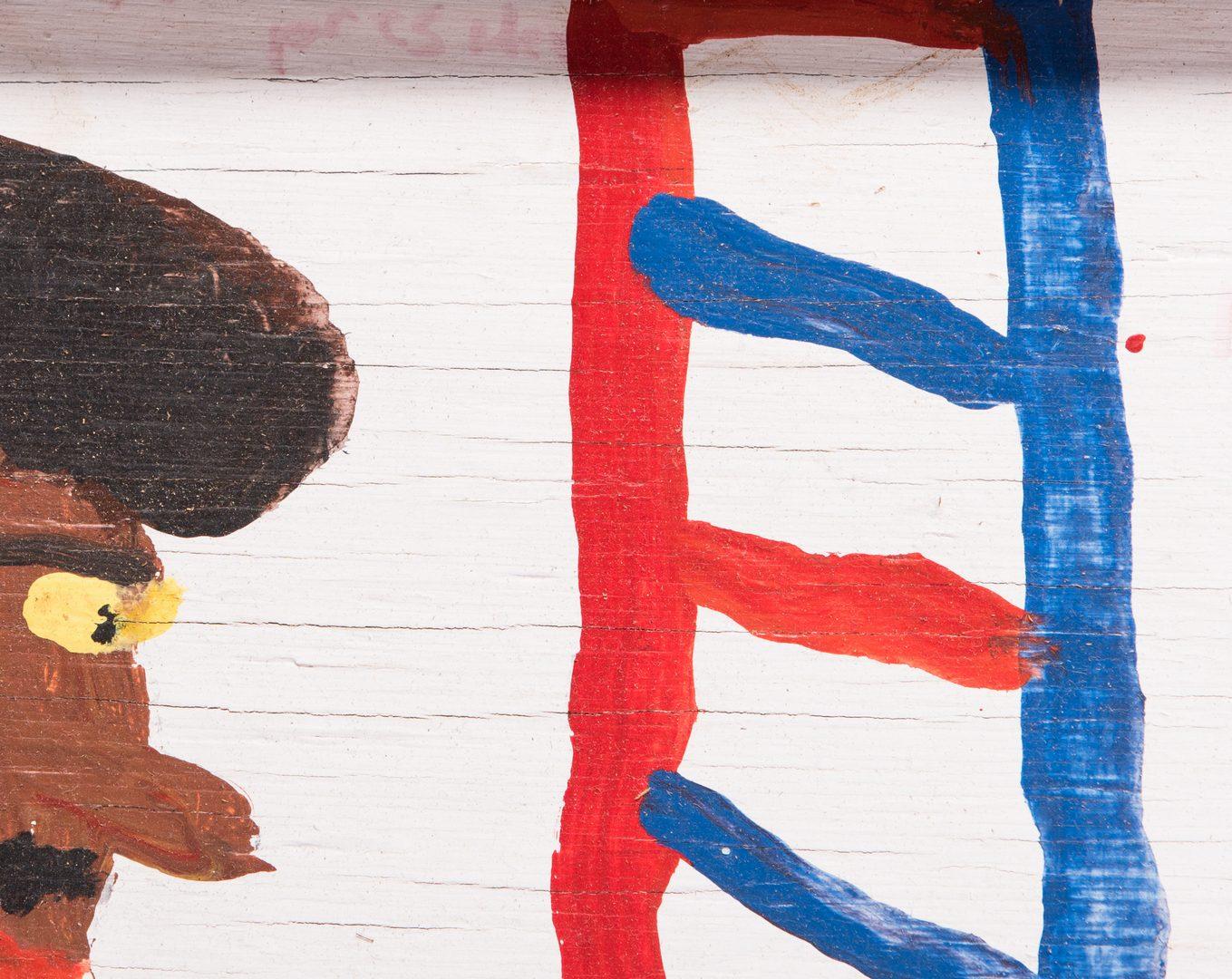 Lot 76: 2 Robyn Beverland Patriotic Folk Art Paintings