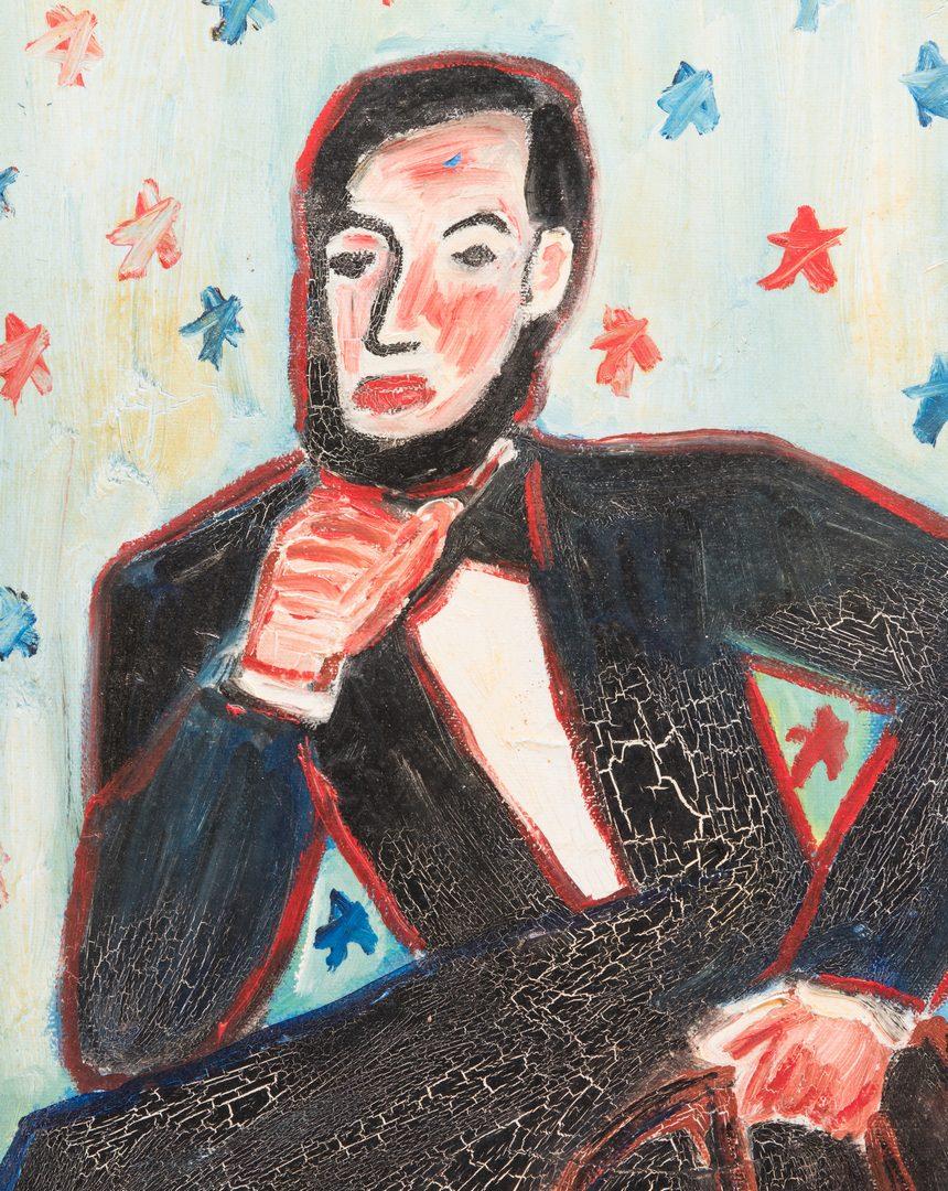 Lot 77: L. Webb Folk Art Lincoln Portrait