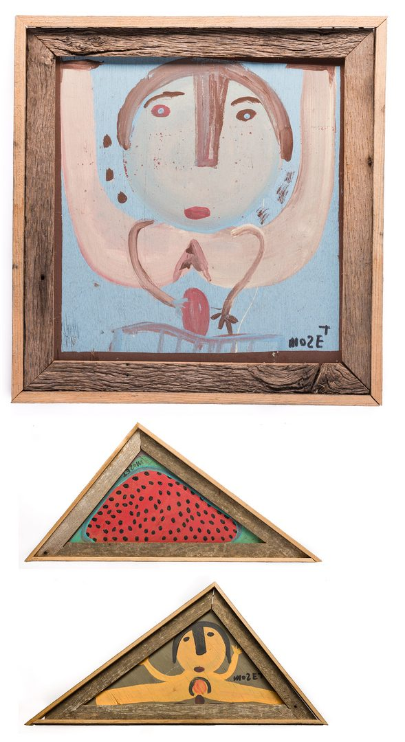 Lot 78: 3 Mose Tolliver Folk Art Paintings