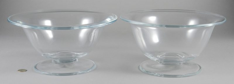 "Lot 7: 2 William Yeoward Crystal ""Alice"" Bowls"