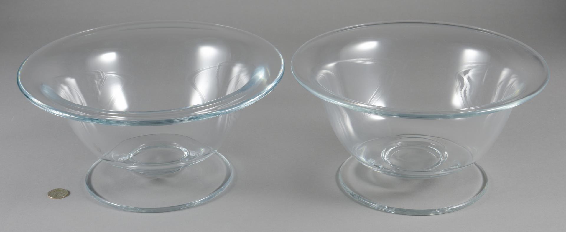 "Lot 7: 2 William Yeoward Crystal ""Alice"" Bowls"