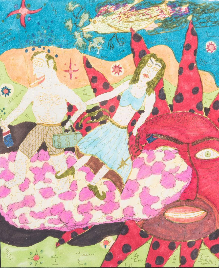 Lot 81: 3 Folk Art Works on Paper