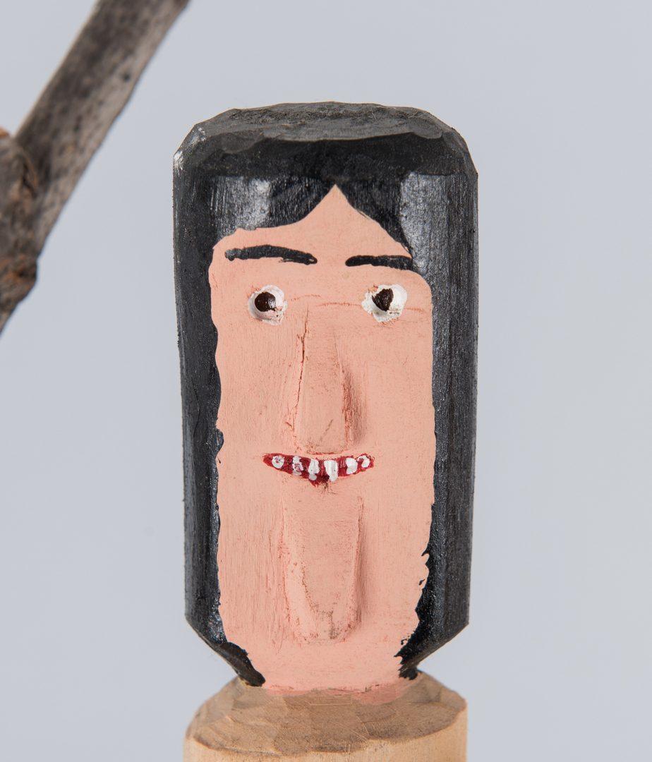 Lot 85: 3 Calvin Cooper Folk Art Carvings