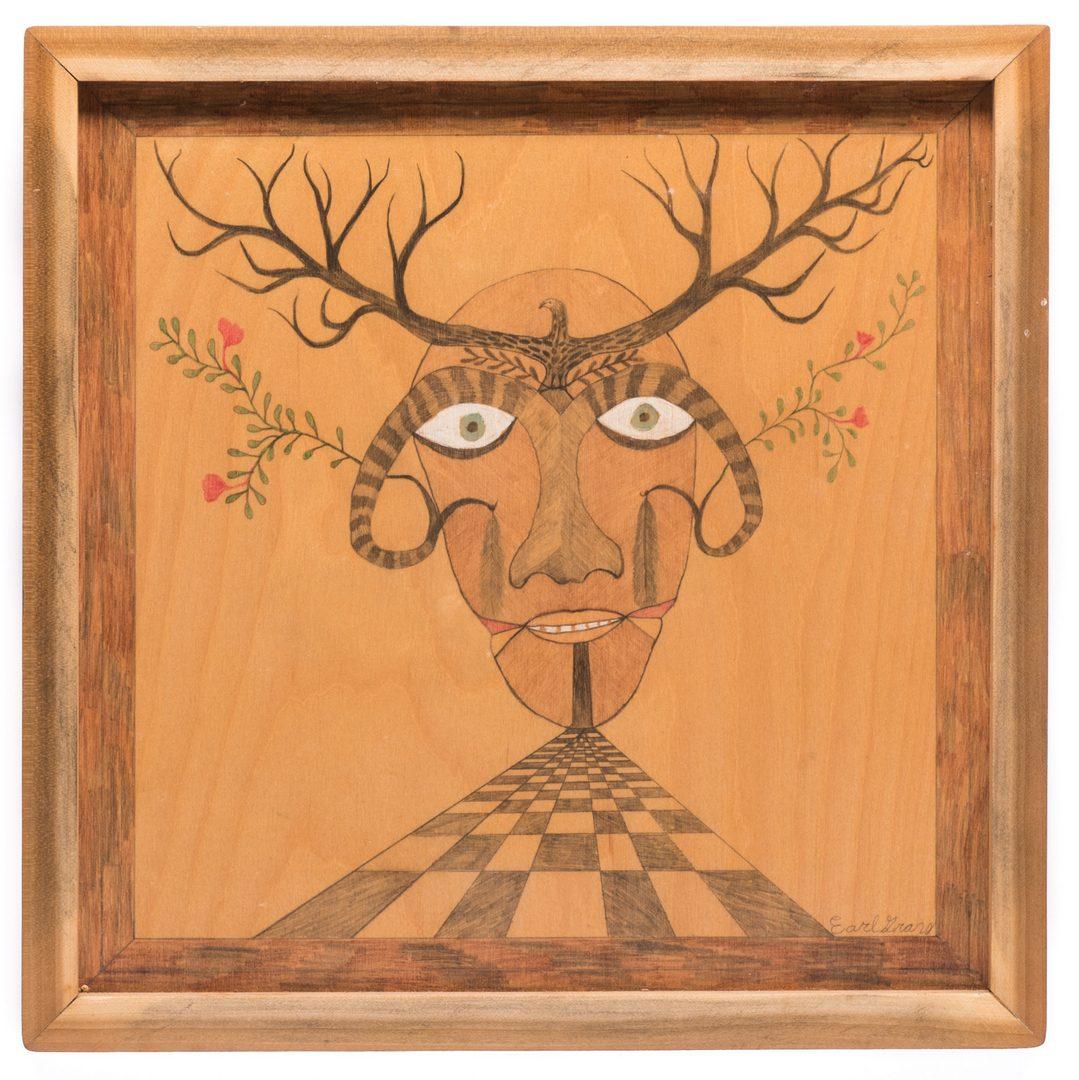 Lot 86: 3 Folk Artworks, 20th century
