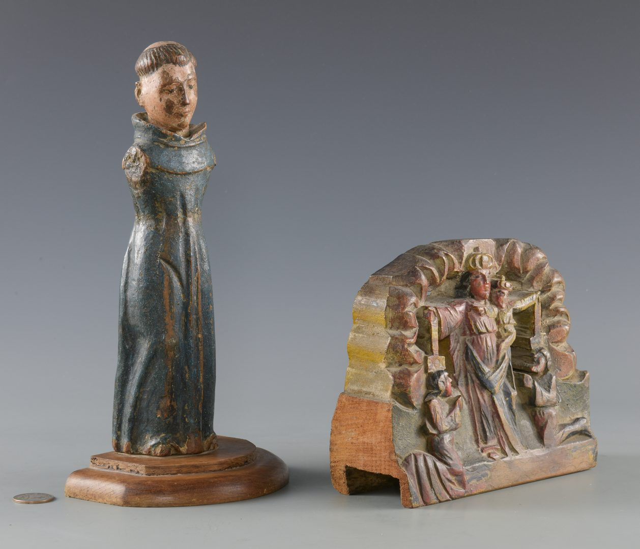Lot 88: 2 Santos Carvings