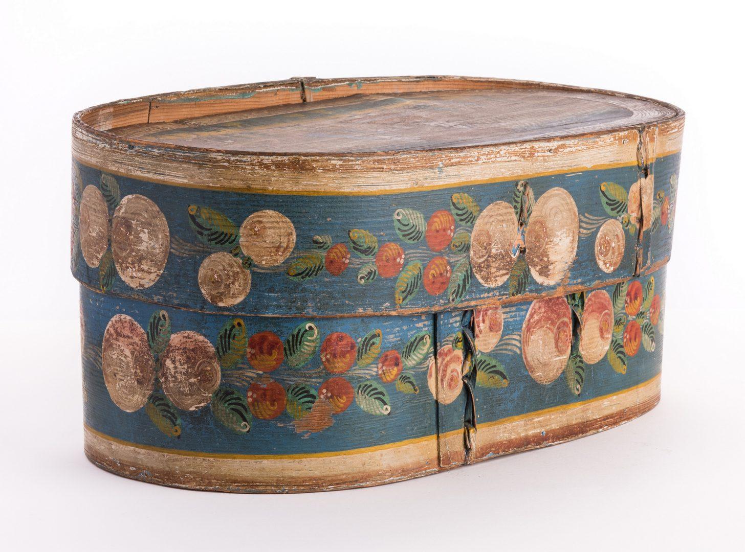 Lot 89: European Folk Art Bride's Box