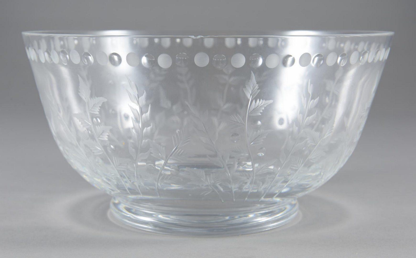 """Lot 8: William Yeoward """"Fern"""" Jug Pitcher & 2 Centrepiece Bowls"""
