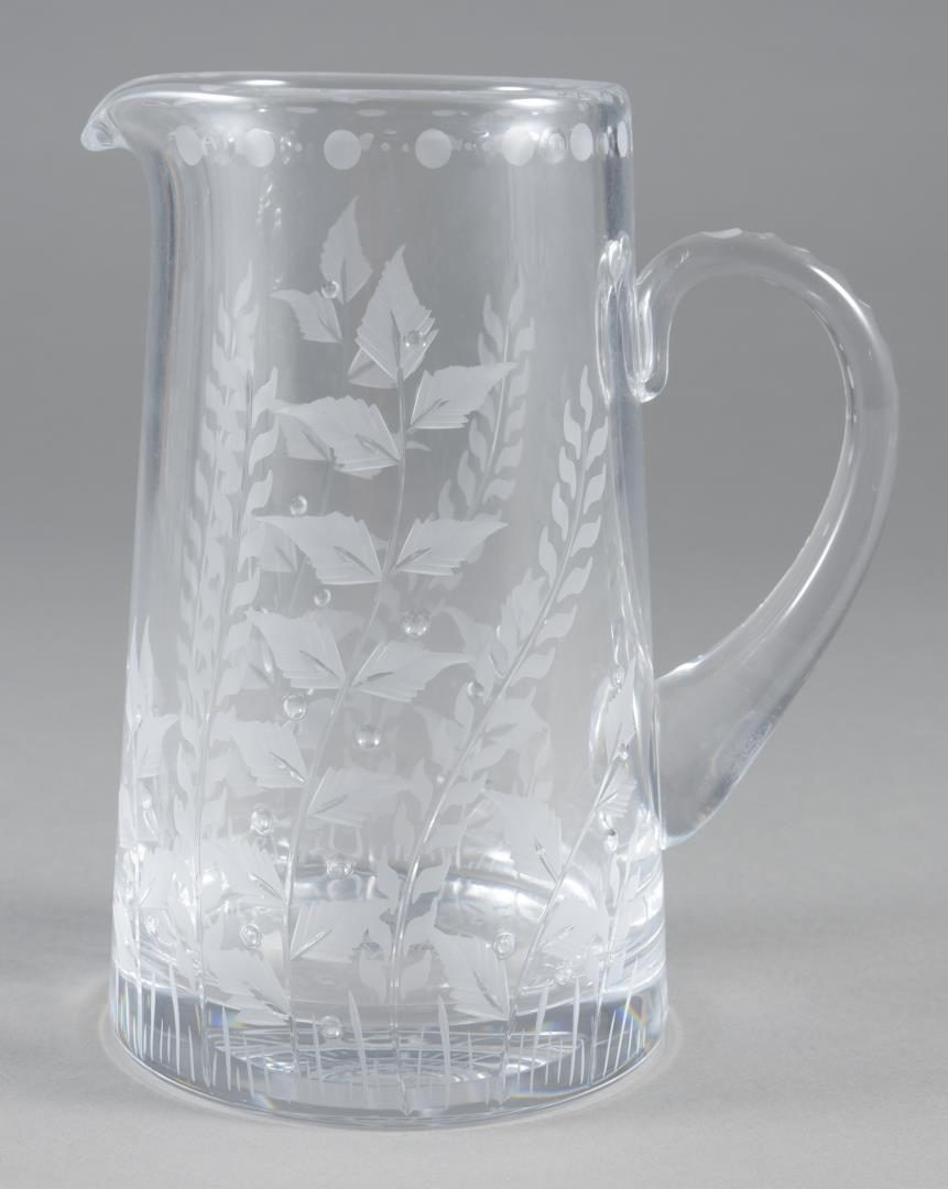 "Lot 8: William Yeoward ""Fern"" Jug Pitcher & 2 Centrepiece Bowls"
