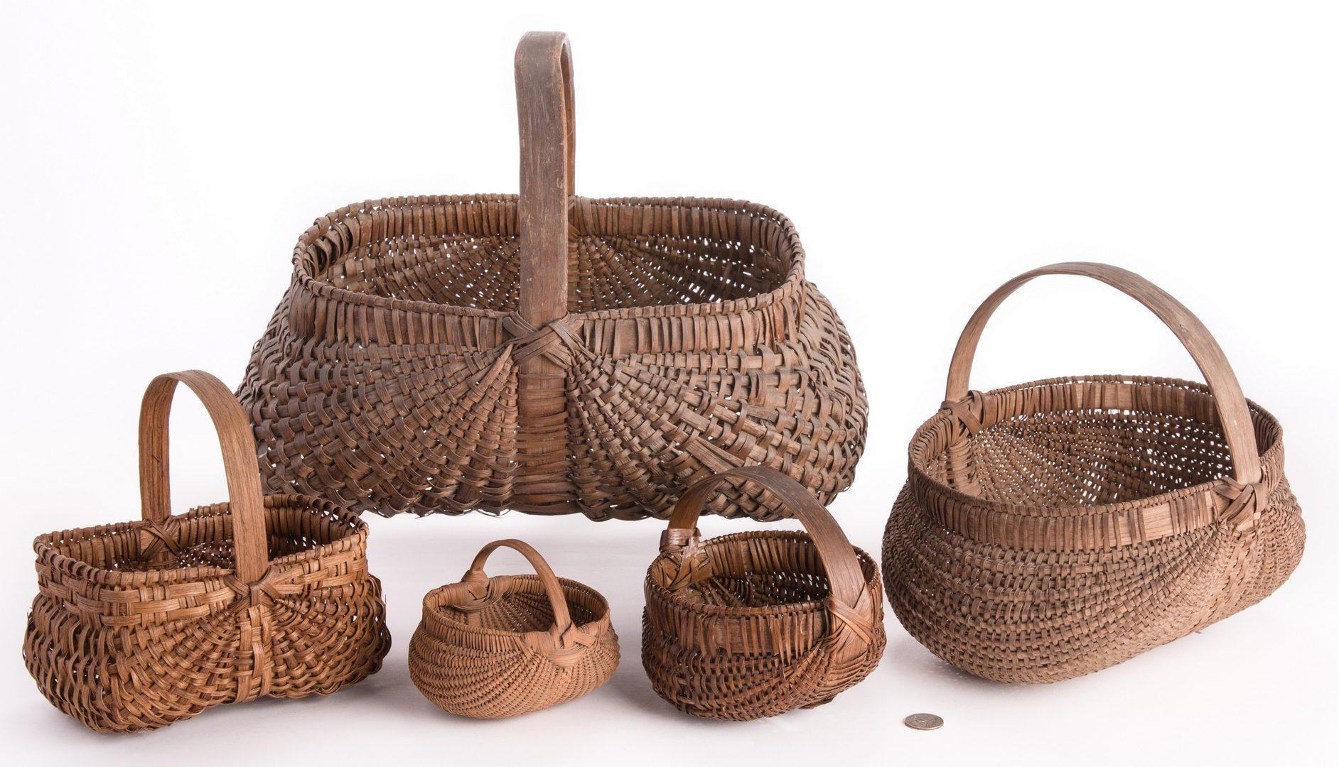 Lot 94: 5 Early Southern Baskets