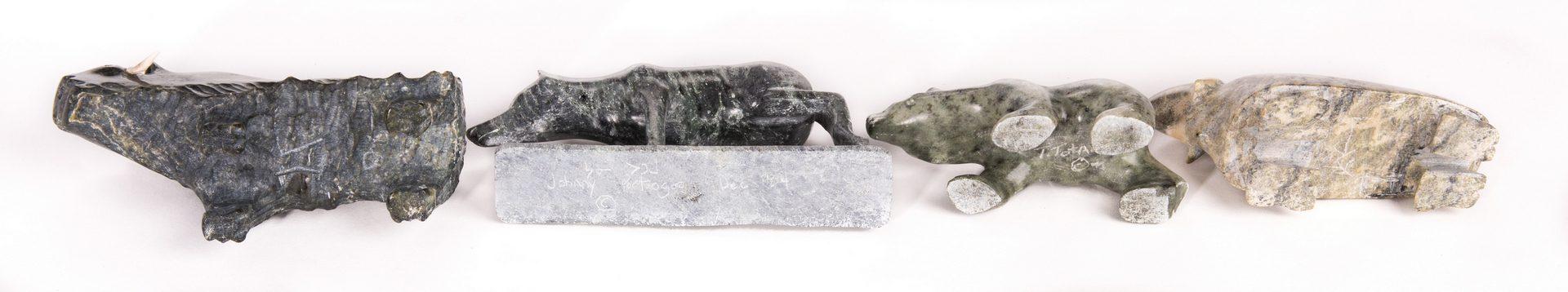 Lot 96: 15 Inuit Stone Carvings, inc. Pootoogook, General, Utye