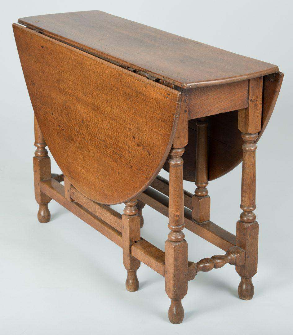 Lot 98: 18th c. Oak Gateleg Table