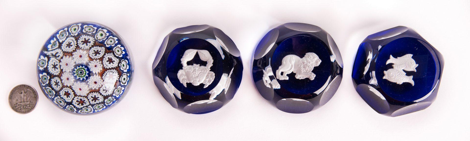 Lot 9: 5 Art Glass Items, incl. Steuben & Baccarat