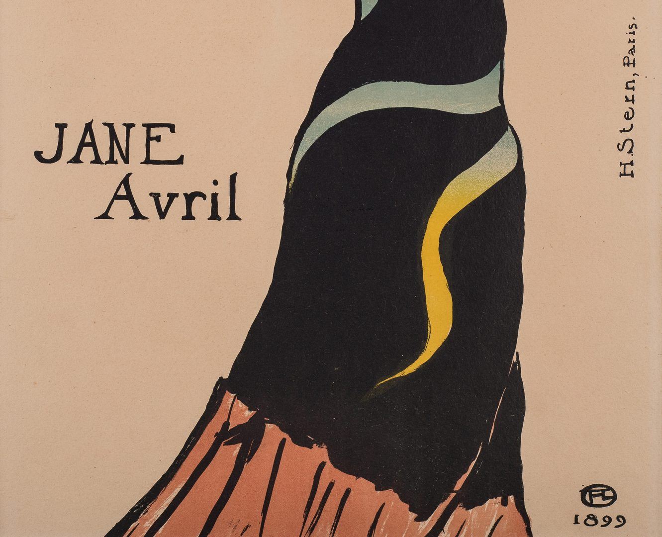 Lot 100: Toulouse Lautrec Lithograph, Jane Avril