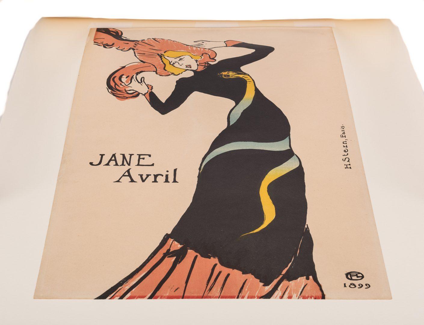 Lot 100: Toulouse Lautrec Lithograph, Jane Avril