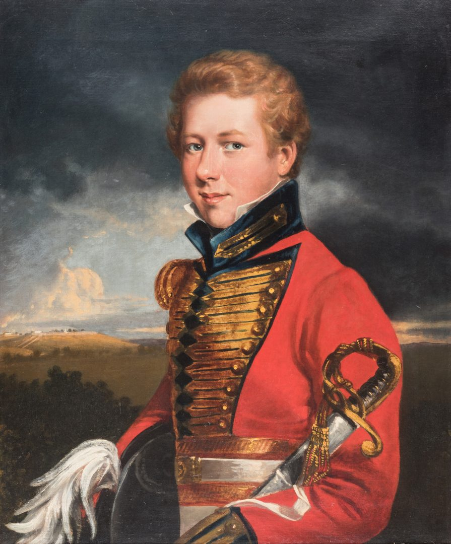 Lot 102: English School, Portrait of a Young Officer