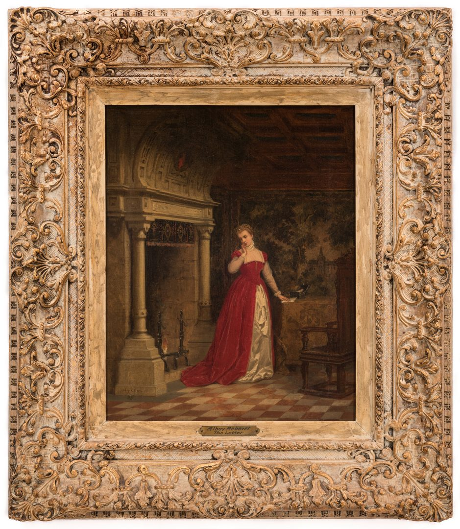 Lot 103: Alboy- Rebovet Oil on Canvas, The Letter