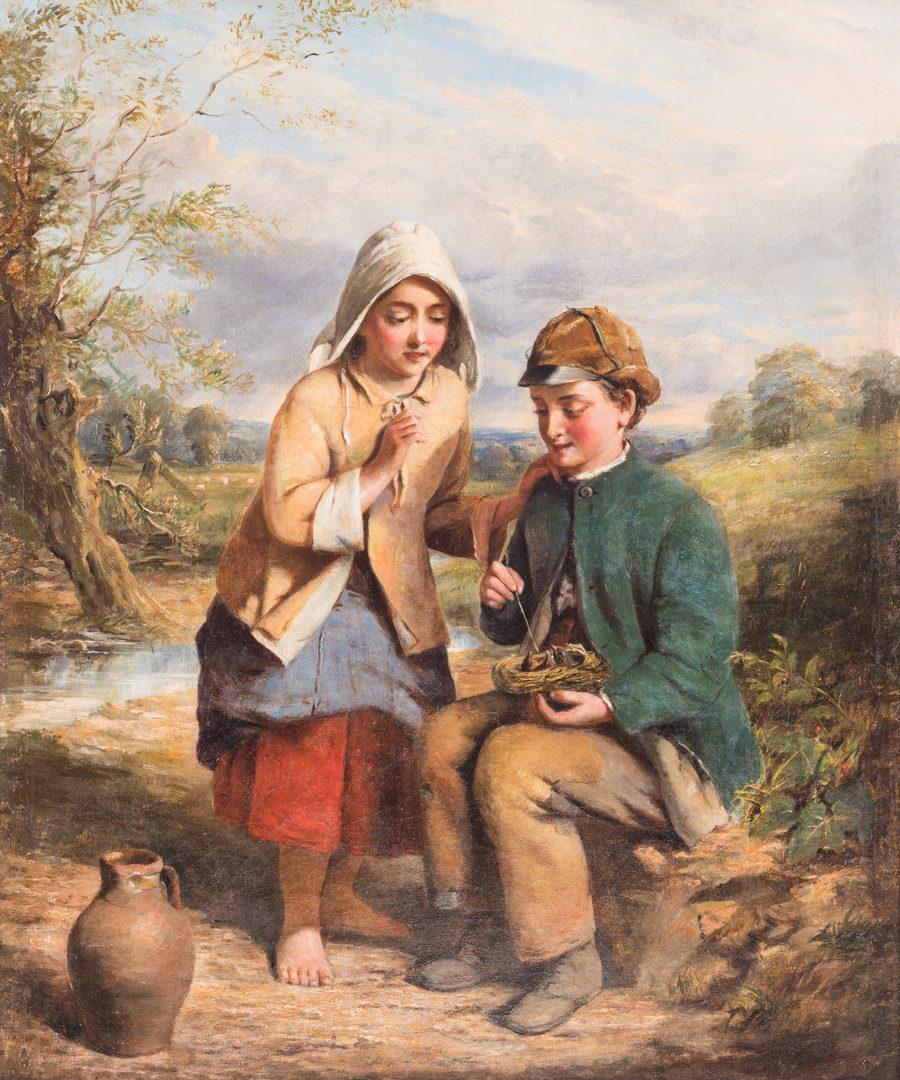 Lot 104: Thomas Faed Oil on Canvas Genre Scene