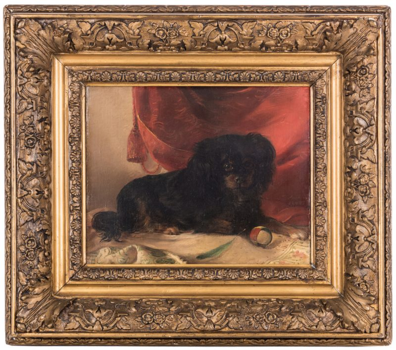 Lot 107: Continental School, O/C, King Charles Spaniel