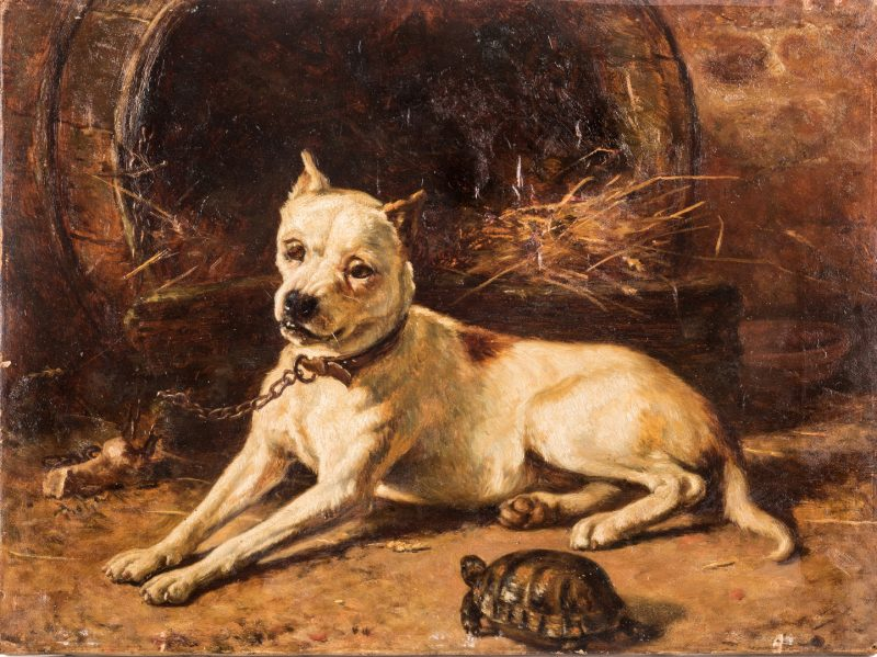 Lot 108: Edward Physick Oil on Canvas Dog Portrait