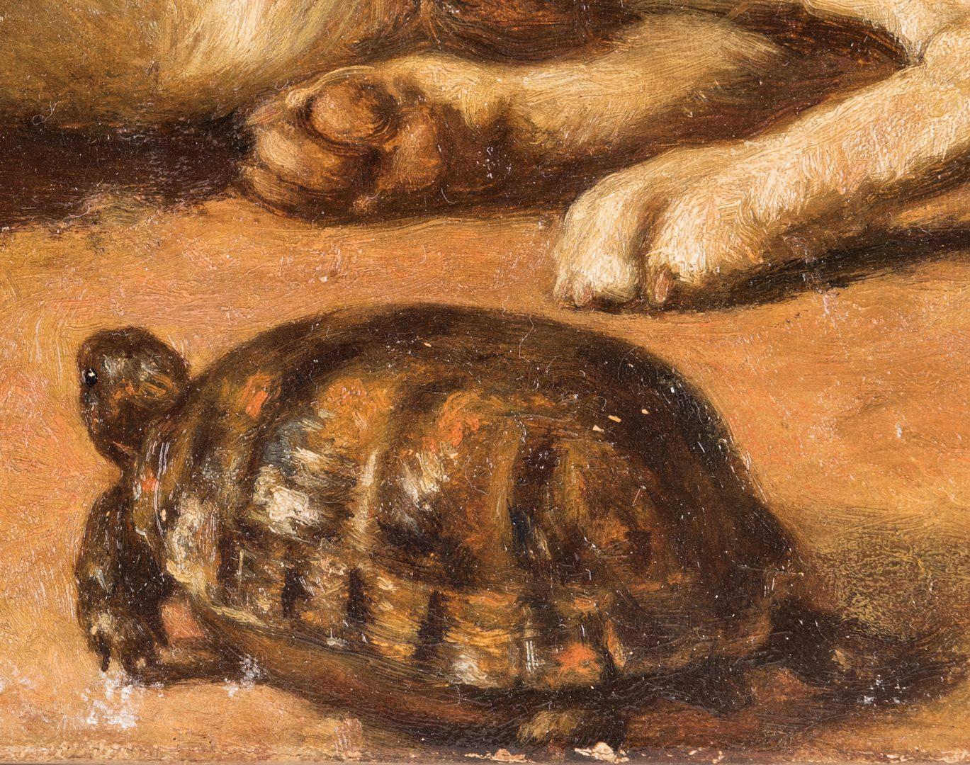 Lot 108: Edward Physick Oil on Canvas Dog Portrait