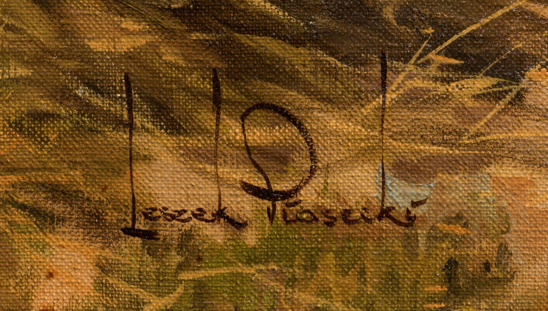 Lot 109: Leszek Piasecki, O/C, Orientalist Painting