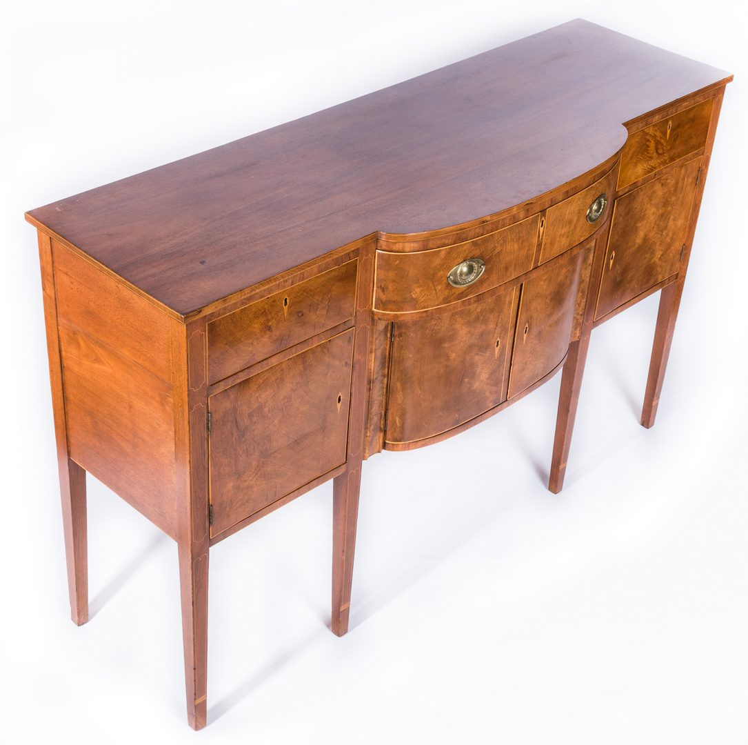 Lot 112: Virginia Federal Inlaid Sideboard, Signed by Maker